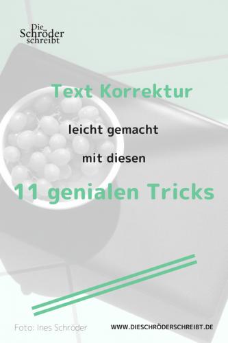 Text Korrektur leicht gemacht Tricks