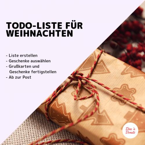 Weihnachten ToDos